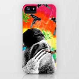 sloth gangsta gangster Dope Weed iPhone Case