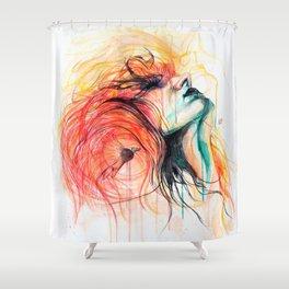 Metamorphosis-Bird of paradise Shower Curtain