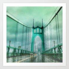 St John's Bridge Portland Oregon Art Print
