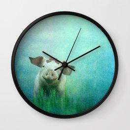Lucky Pig Wall Clock