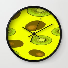Kiwi fruit pattern Wall Clock
