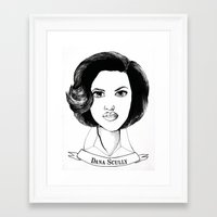dana scully Framed Art Prints featuring Dana Scully by Colleen Parker