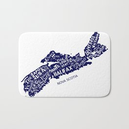 Nova Scotia Map Bath Mat
