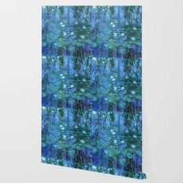 Claude Monet Water Lilies BLUE Wallpaper