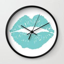 Aqua Lips Wall Clock