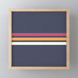 Classic Retro Stripes 2 Framed Mini Art Print
