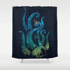 Undersea attack (neon ver.) Shower Curtain