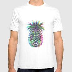 Pineapple CMYK MEDIUM White Mens Fitted Tee