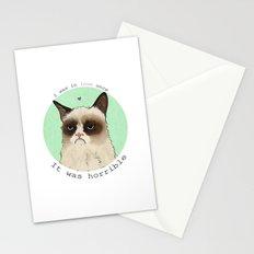 Grumpy cat love Stationery Cards