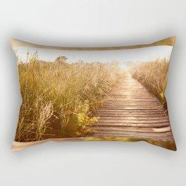 boardwalk and morass grass Rectangular Pillow