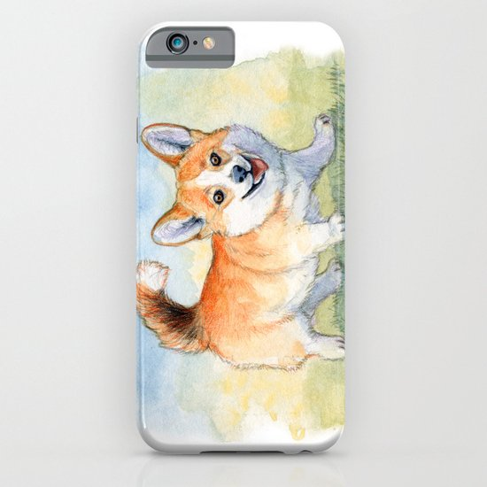 Funny Welsh Corgi 859 iPhone & iPod Case