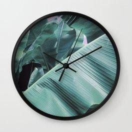 Modern palm tree Wall Clock