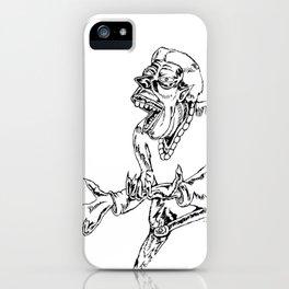 Werewolf Transformation in Ink iPhone Case