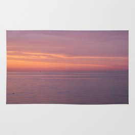 Colors of the sea at the blue hour Rug