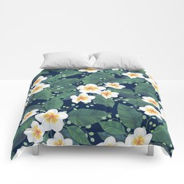 Plumeria Pattern Comforters