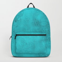 Metal Blue Turquoise Background Backpack