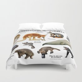 Animals of Australia Duvet Cover