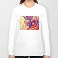 african Long Sleeve T-shirts featuring African portrait by Marta Zawadzka