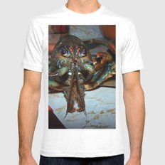 Lobster White MEDIUM Mens Fitted Tee