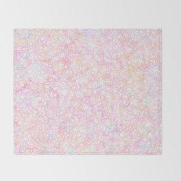 Colorful Modern Strings - Pearl Pastel Throw Blanket