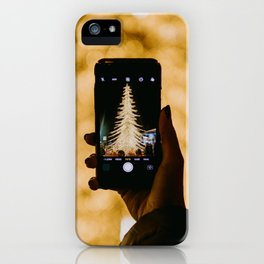 The Golden Christmas Tree (Color) iPhone Case