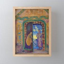 Nicholas Roerich - The Messenger - Digital Remastered Edition Framed Mini Art Print