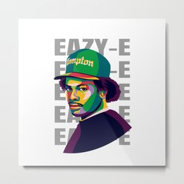 Eazy in pop art Metal Print