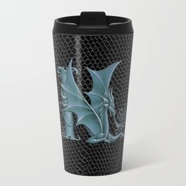 "Dragon Letter N, from ""Dracoserific"", a font full of Dragons Travel Mug"