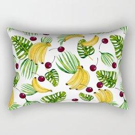 bananas and cherries - fruit pattern no2 Rectangular Pillow