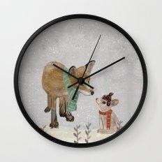 hello mr fox Wall Clock