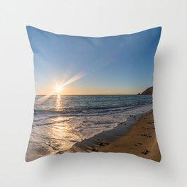 Scenic panoramic Point Mugu vista at sunset Throw Pillow