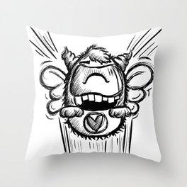 Buzzy Monster Throw Pillow