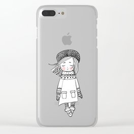 Dreaming in a Winter Wonderland Clear iPhone Case
