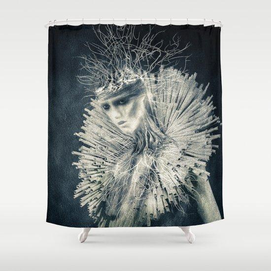 Dark Portrait III  (colour option) Shower Curtain