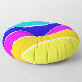 Bright Stripes Floor Pillow