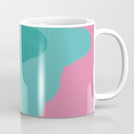 Francois Rabelais portrait - pink and blue green Coffee Mug