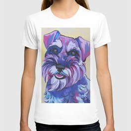 Schnauzer Pop Art Pet Portrait T-shirt