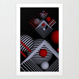 recursio in 3 colors Art Print