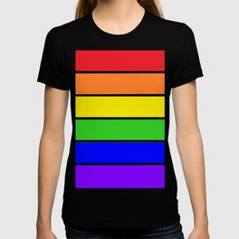 RAINBOW stripes T-shirt