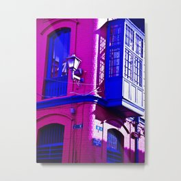 THE BALCONY WINDOW AND LIGHT Metal Print