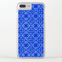 Sapphire Blue Shadows Clear iPhone Case