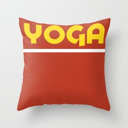 YOGA- amarillo Throw Pillow