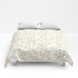 Small Spots - White and Pearl Brown Comforters