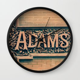 Adams St The Loop Chicago City Center Downtown Building Street Sign Wall Clock