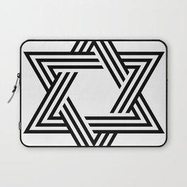 Six Stripe Hexagram Black and White Laptop Sleeve