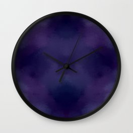 Deep Violet Tie Dye Wall Clock