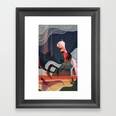 Lava Mermaid Framed Art Print