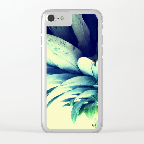 Tall pineapple Clear iPhone Case