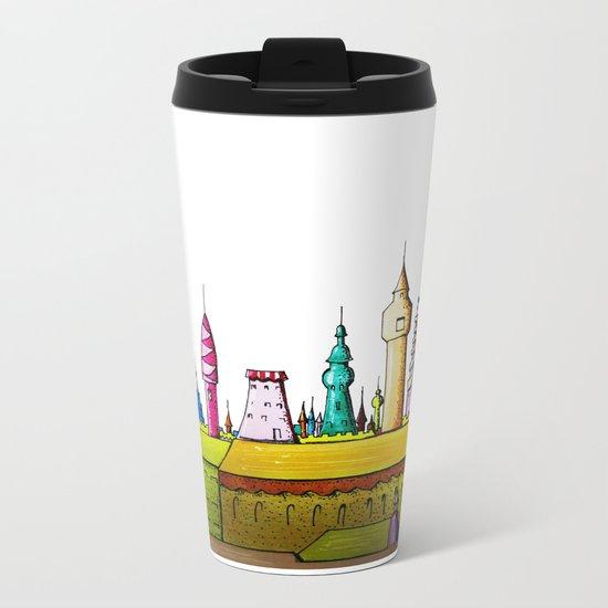 fabulous city painted Metal Travel Mug