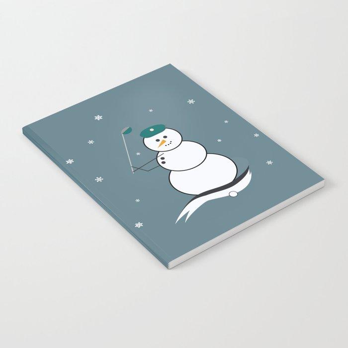 Golfing Snowman Notebook